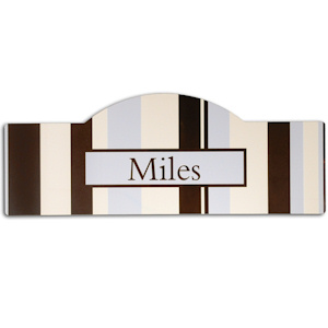 Blue Stripes Personalized Room Sign imagerjs