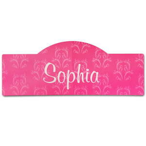 Pink Damask Personalized Room Sign imagerjs
