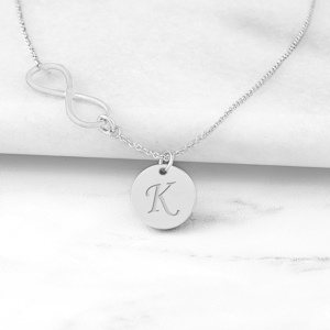 Personalized Infinity Necklace with Charm imagerjs