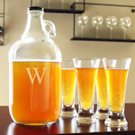 Personalized Craft Beer Growler & Pilsners Set