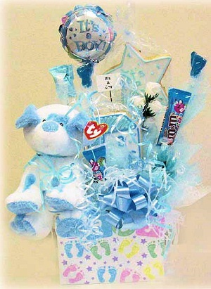 Puppy Plush Baby Cookie & Candy Gift Box image