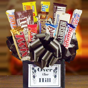 Over The Hill Candy Bar Bouquet imagerjs
