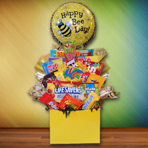 Happy Bee-Day Birthday Candy Basket imagerjs