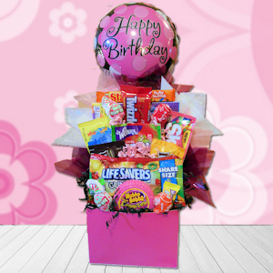 Happy Birthday Bubbles Candy Basket imagerjs