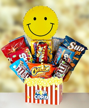 Movie Time Popcorn & Candy Basket imagerjs