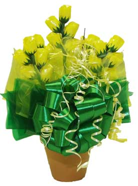 Small Sweet Blooms Candy Arrangement image