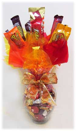 Fall Candy Jar Bouquet image