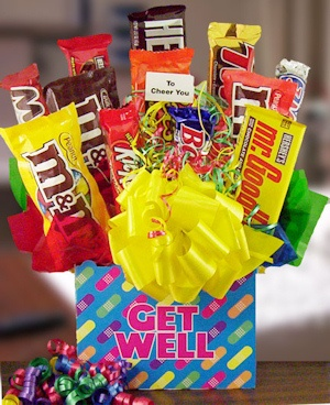Get Well Band-Aid Candy Bar Bouquet imagerjs