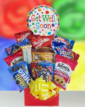 Get Well Cookie Cravings Snack Bouquet imagerjs