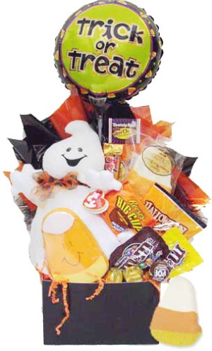 Happy Ghost Halloween Gift Basket image