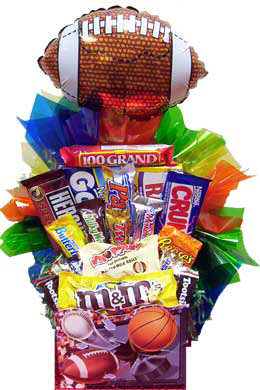Sweet Sports Candy Basket (4 Balloon Options) image