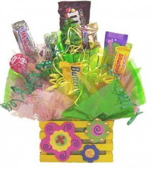 Pastel Flower Crate Candy Gift image