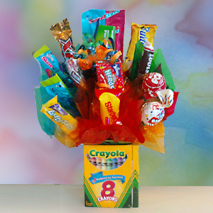 Colorful Crayon Candy Bouquet imagerjs