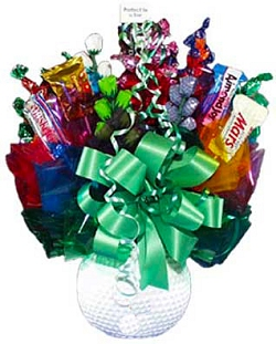 Hole In One Golf Ball Candy Bouquet image