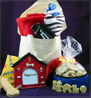 Time To Travel Dog Gift Basket imagerjs