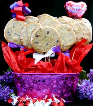 Heart Tin with Gourmet Cookies image