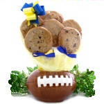Football Themed Cookie Bouquet Planter