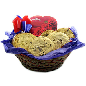 Valentine's Day Cookies & Chocolate Basket imagerjs