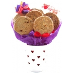 Cut Out Hearts White Cookie Pot