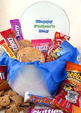 Father's Day Tin of Cookies and Goodies image