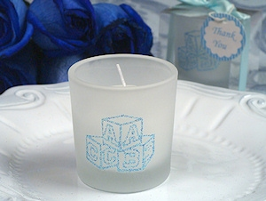 ABC Blocks Blue Glitter Candles imagerjs