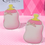 Pink Baby Bottle Place Card Holder