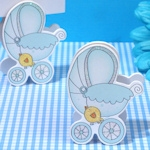 Adorable Blue Baby Stroller Place Card Holder