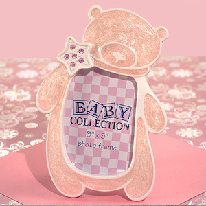 Pink Teddy Bear Frame with Sparkling Star imagerjs