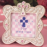 Small Blessings Pink Cross Design Photo Frame