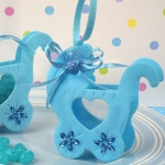Adorable Blue Baby Carriage Bag/Holder