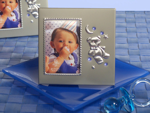 Blue Crystal Teddy Bear Photo Frame Favors imagerjs