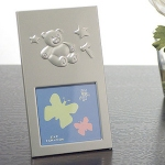 Silver Photo Frame w/ Teddy Bear