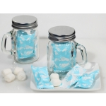Baby Feet Mint Candy Favors with Mason Jar (Blue or Pink)