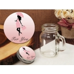 Trendy Mommy Pink Baby Shower Vintage Mini Mason Jar Favors