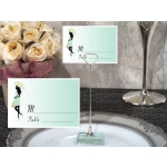 Trendy Mom Baby Shower Place Card with Metal Holder
