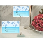 Blue Teddy Bears Place Card with Metal Holder