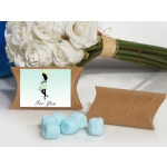Blue and Yellow Trendy Mommy Blue Mint Baby Shower Favor Box