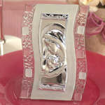 Murano Mary and Baby Pink Religious Favor