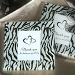 Zebra Design Photo Coaster Favors