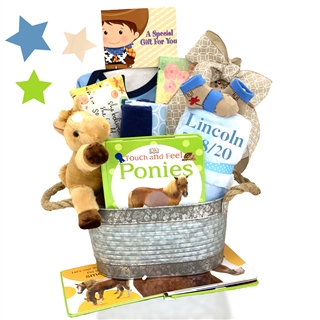 Baby Gift Works Australia : Cowgirl or cowboy baby gift basket aa gifts baskets