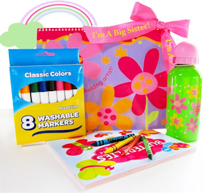 Flower Power Big Sister Gift Activity Set imagerjs