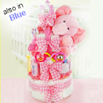 Gingham and Giggles Diaper Cake