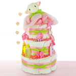 Little Lamb 3 Tier Girl Diaper Cake