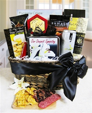 Our Genuine Sympathy Gift Basket imagerjs