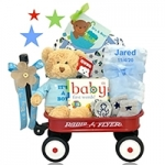 Personalized It's A Boy Baby Gift Wagon