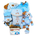 Personalized Puppy Love Moses Basket Gift