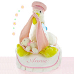 Stork Nest Girl Diaper Cake