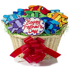 Father's Day Colorful Fish Cookie Basket Delete image