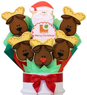 Santa and Reindeer Shortbread Logo Arrangement Delete imagerjs