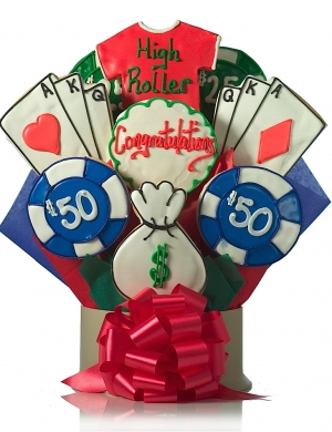 Congratulations High Roller Cookie Gift Delete image